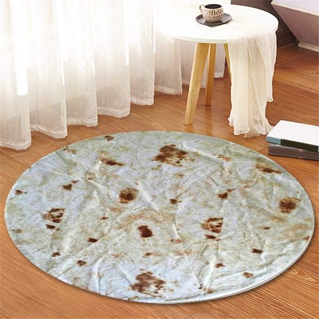 Trendy Round Burrito Tortilla Carpet Rug Style B Trendy Joys