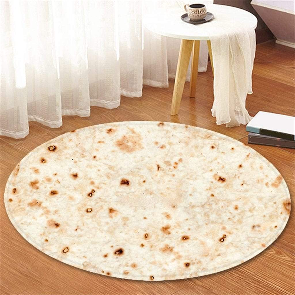 Trendy Round Burrito Tortilla Carpet Rug Style C Trendy Joys