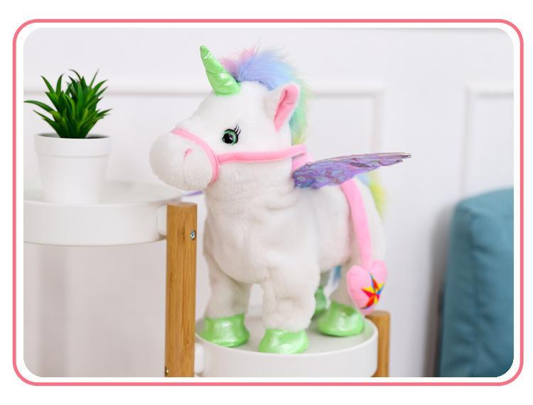 Walking Unicorn Toy Pink Trendy Joys