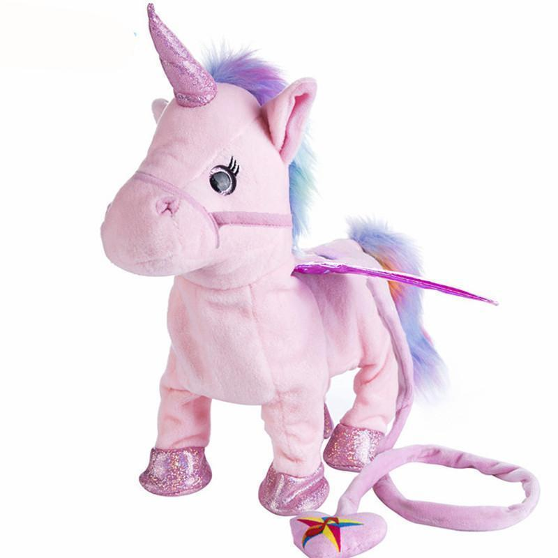 Walking Unicorn Toy Purple Trendy Joys