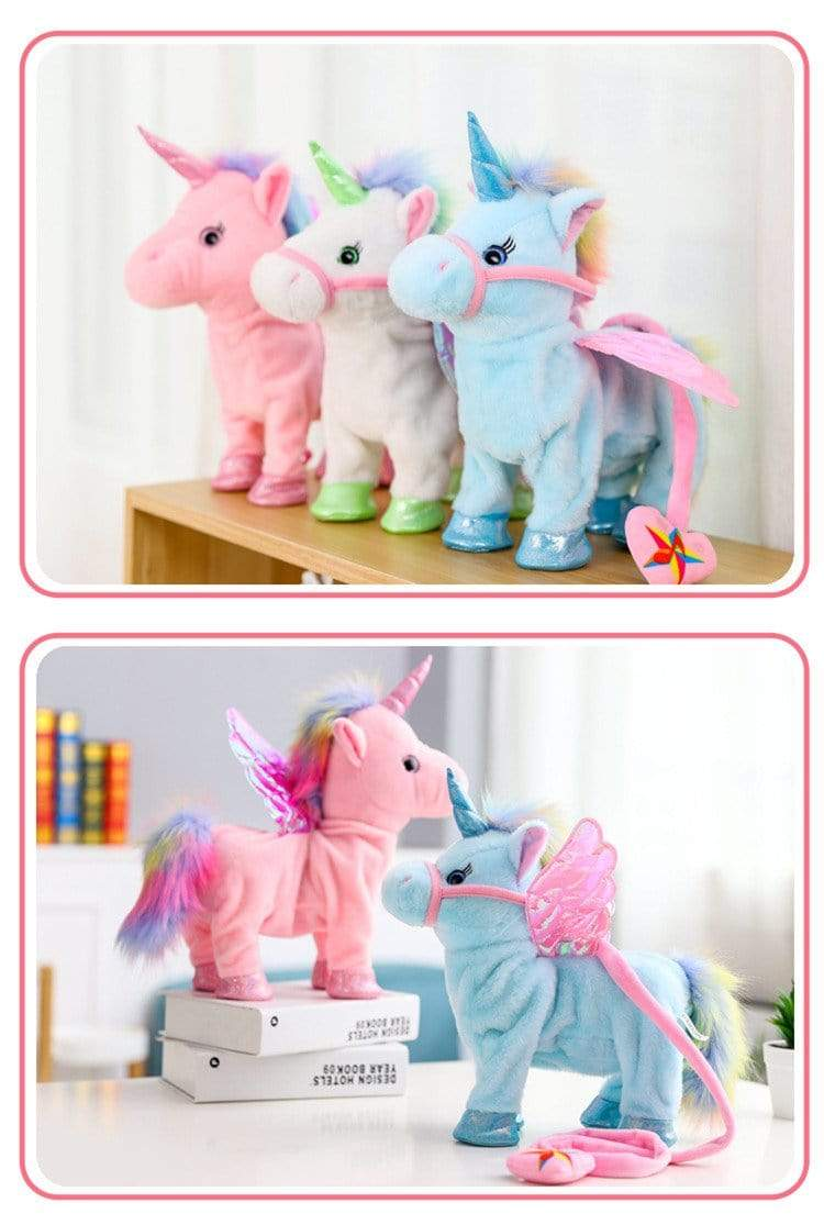 Walking Unicorn Toy Rose Trendy Joys