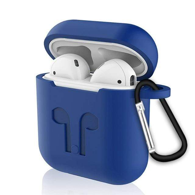 Waterproof Case For Airpods Blue Trendy Joys