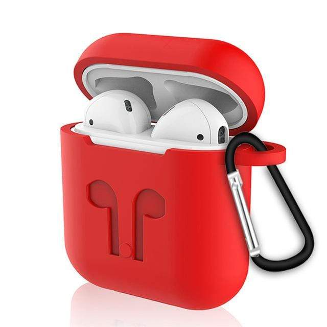 Waterproof Case For Airpods Red Trendy Joys
