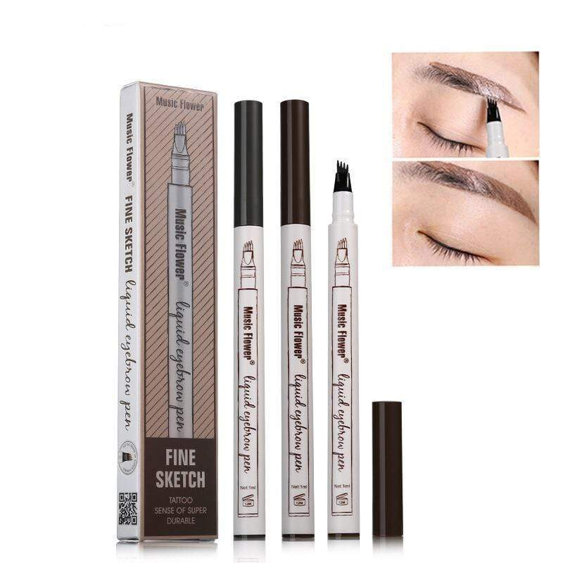 Waterproof Fork Tip Eyebrow Tattoo Pen Chestnut Trend Frenzys