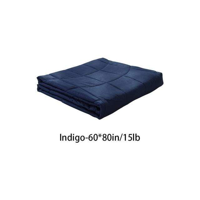 Weighted Gravity Blanket for Adults and Kids Indigo 60x80in / 15lb Trendy Joys