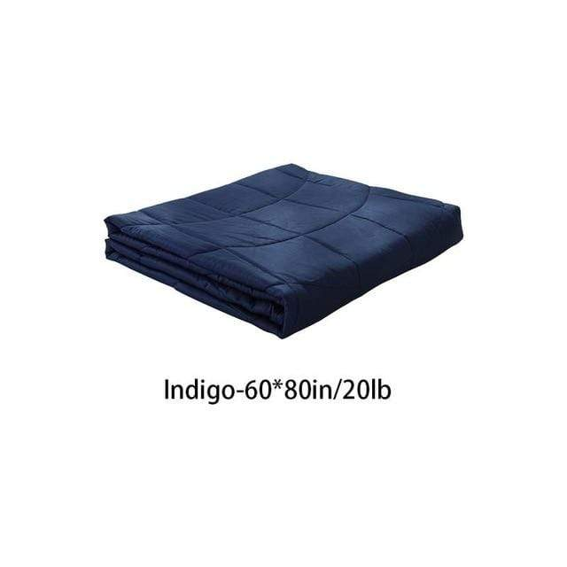 Weighted Gravity Blanket for Adults and Kids Indigo 60x80in / 20lb Trendy Joys