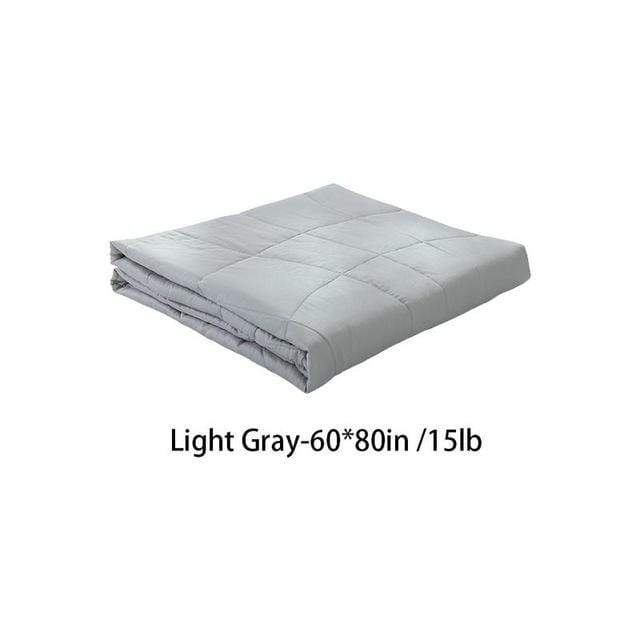 Weighted Gravity Blanket for Adults and Kids Light Gray 60x80in / 15lb Trendy Joys