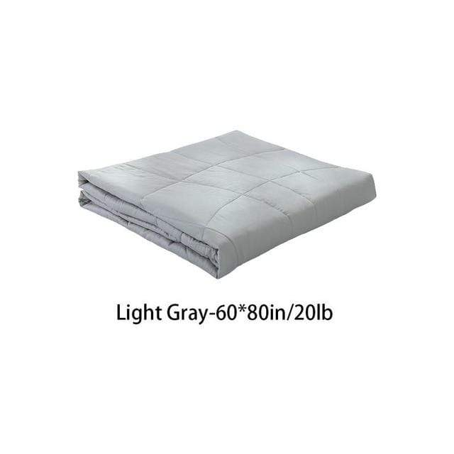 Weighted Gravity Blanket for Adults and Kids Light Gray 60x80in / 20lb Trendy Joys