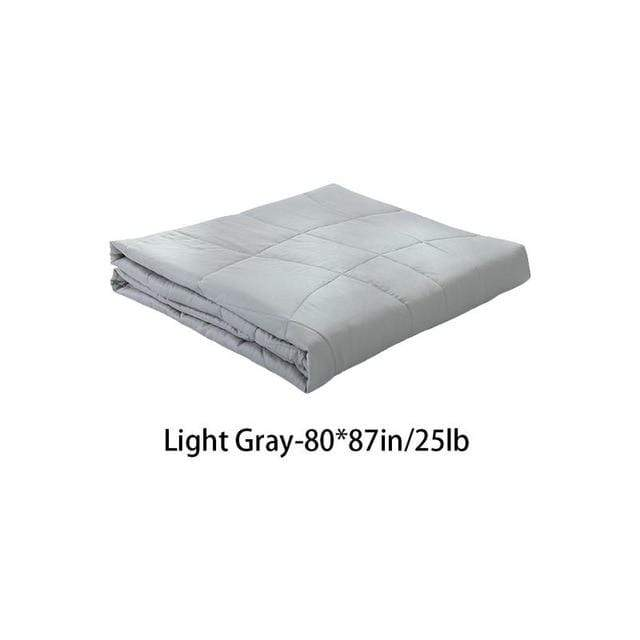 Weighted Gravity Blanket for Adults and Kids Light Gray 80x87in / 25lb Trendy Joys