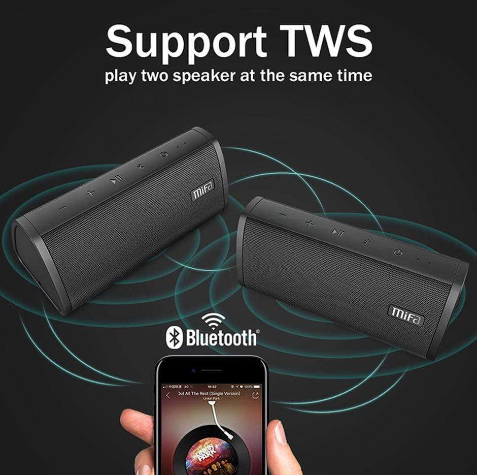 Wireless Bluetooth Speaker Black Trendy Joys