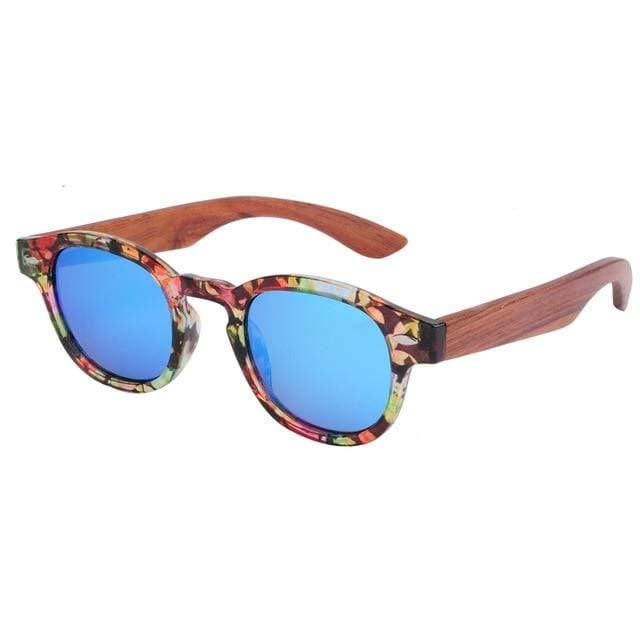 Women's Bamboo Sunglasses Floral Trendy Joys