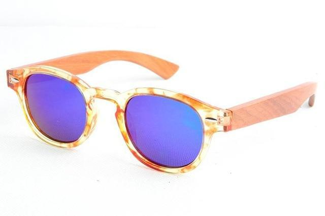 Women's Bamboo Sunglasses Marble and Beige Trendy Joys