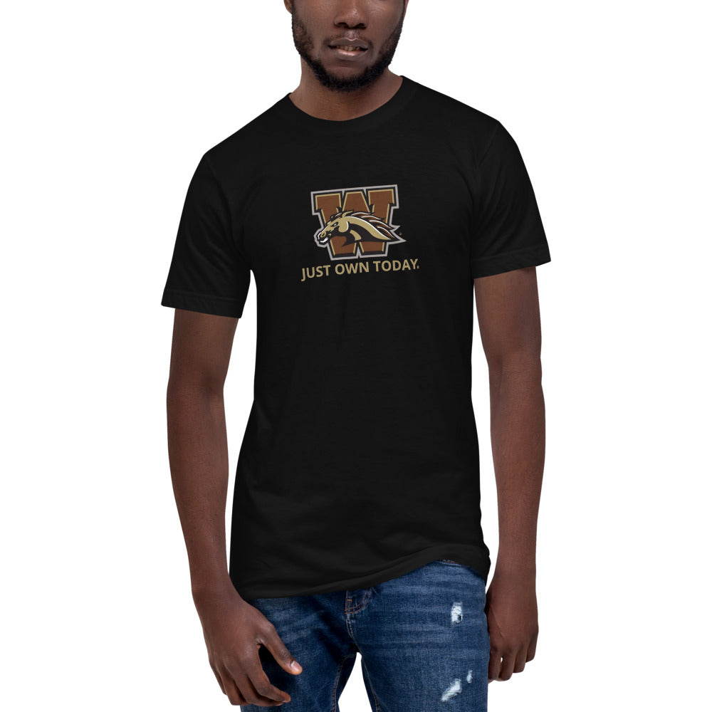 WMU Bronco JUST OWN TODAY Unisex Fine Jersey Tall T-Shirt