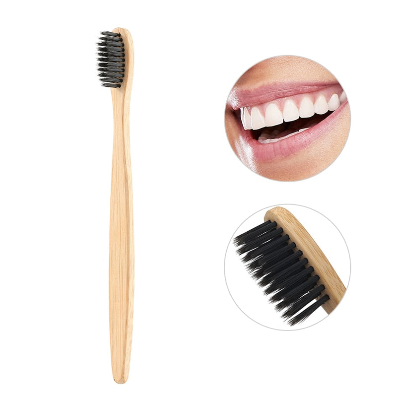 Toothbrush Eco-friendly natural bamboo charcoal
