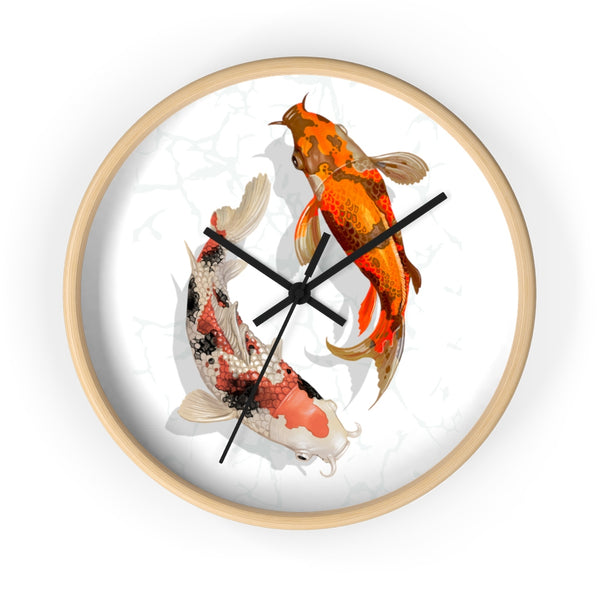 Twin Koi Wall Clock - AlpineReach