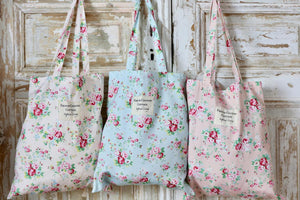 Exclusive Inspired Living Tote - Blue Floral