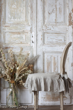 *NEW* Ruffled French Linen Chair Slipcover