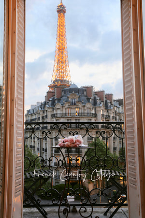 8x10 Paris Balcony Print