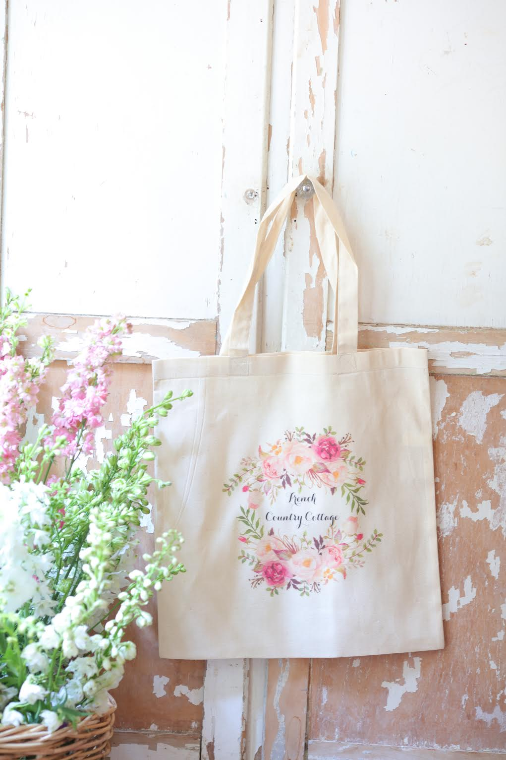 Floral  Wreath Book bag
