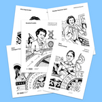 famous females in chemistry and medicine coloring pages for kids