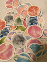 colorful planet stickers