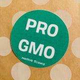 pro-gmo sticker in green