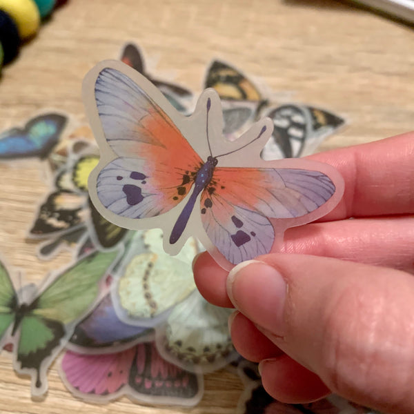 translucent butterfly stickers