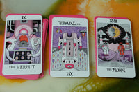 tarot cards with science concepts