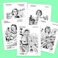 coloring pages with women scientists