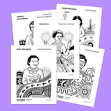 women in science coloring pages for kids and adults