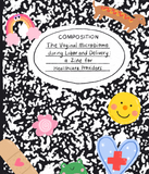Composition notebook zine cover