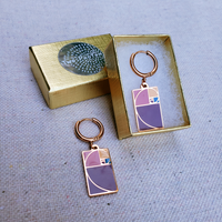 golden ratio math earrings