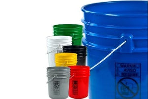 Heavy Duty 5 Gallon HDPE Buckets - 5 Pack