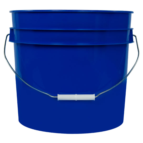 Heavy Duty 3 1/2 Gallon HDPE Buckets - 5 Pack