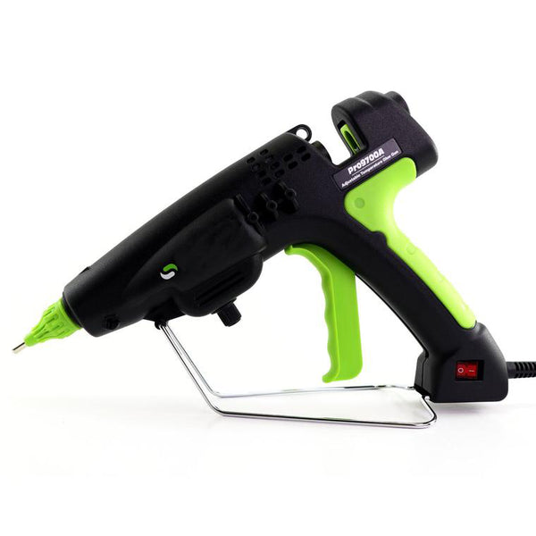 Adjustable Temperature Hot Melt Glue Gun - **Free 3-Piece Nozzle Set Included**