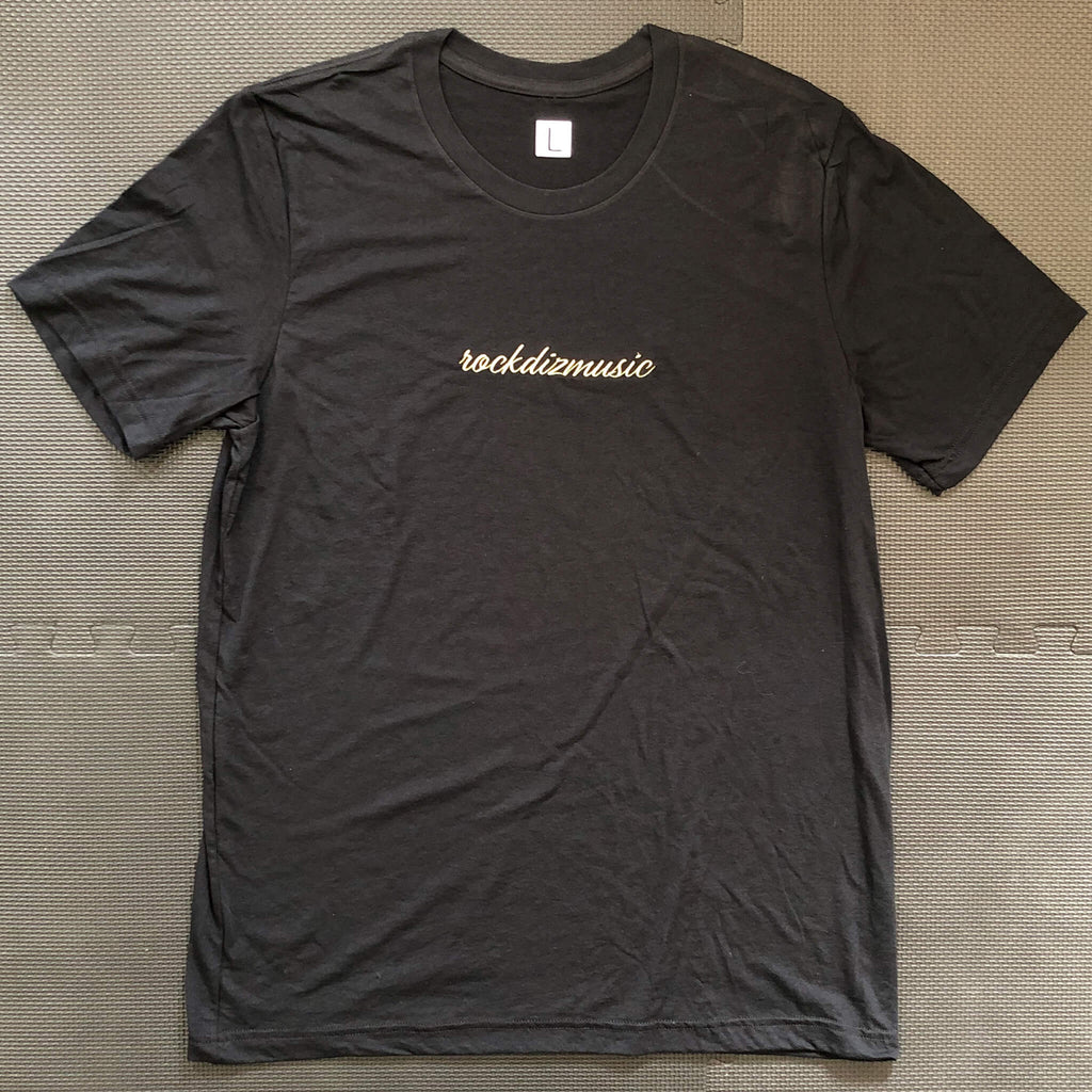 Black Tee (Gold Embroidery)