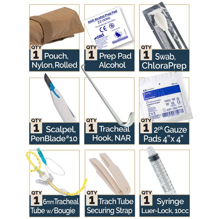 BAC-PACK - BOUGIE AIDED CRICOTHYROIDOTOMY PACK