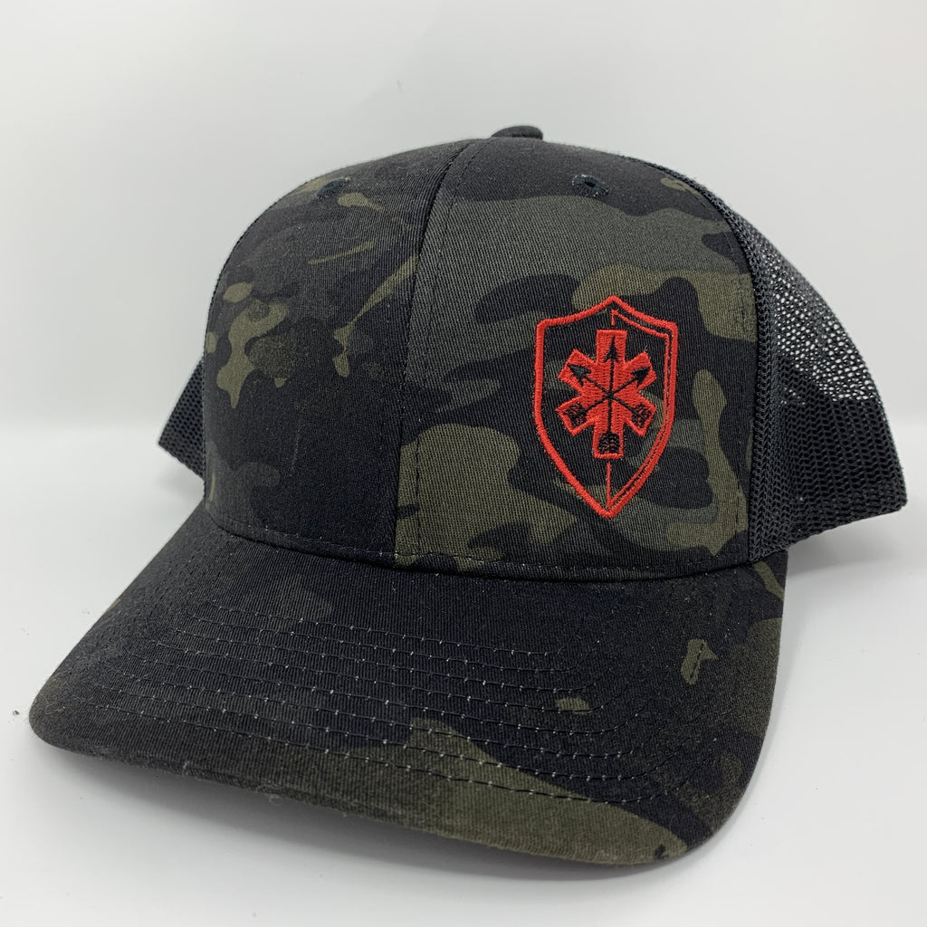 Multicam Black SnapBack Trucker Cap