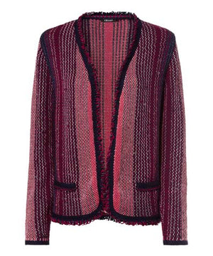 Olsen Women's Easy Style Knit Cardigan Jacket Pink Red Sz 10 / M-infinitote.com