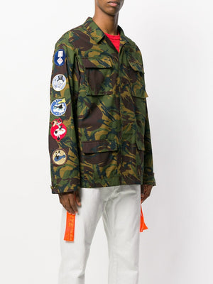 OFF-WHITE c/o Virgil Abloh Camouflage Arrows Jacket Sz XS-infinitote.com