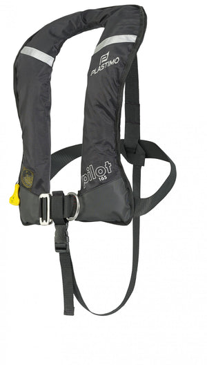Plastimo Pilot 165 Lifejacket Manual inflation with Harness Black-infinitote.com