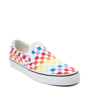 Vans Slip On Rainbow Chex Skate Shoes - Multi Sz M5/W6.5-infinitote.com