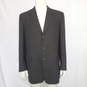 Fioravanti Soft Men's Black Suit Three-Button Jacket Sz 44 & Pants Sz 32-infinitote.com