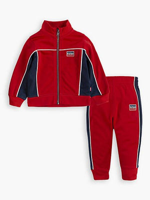 Levi's Boys' Colorblock Track Suit Pants + Jacket Set Red-infinitote.com