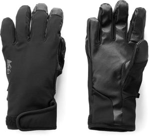 REI Thinsulate Unisex Soft-Shell Gloves Screen Friendly Black Sz M-infinitote.com