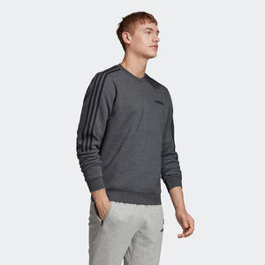 adidas Men's 3 Stripes Crew Sweatshirt Sweater Grey Sz L EI8995-infinitote.com