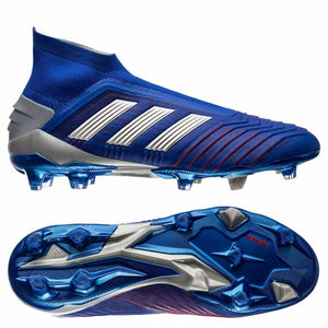 adidas Predator 19+ Firm Ground Soccer Cleats Shoes Blue BB9087 Sz 8.5-infinitote.com