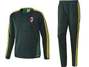 adidas AC Milan 15/16 Training Suit Top Shirt + Pants Green Sz XS-infinitote.com
