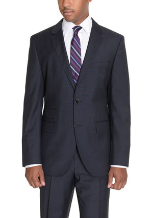Hugo Boss The Kings/Central Classic Navy Two Button Wool Suit 2Pc 40L-infinitote.com