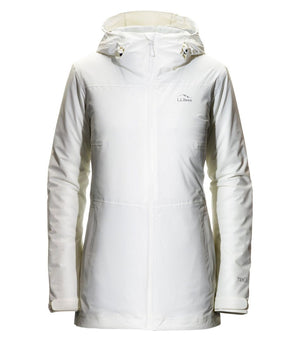 L.L. Bean Women's Waterproof PrimaLoft Packaway Jacket White L